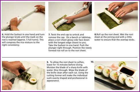 perfect roll sushi maker instructions