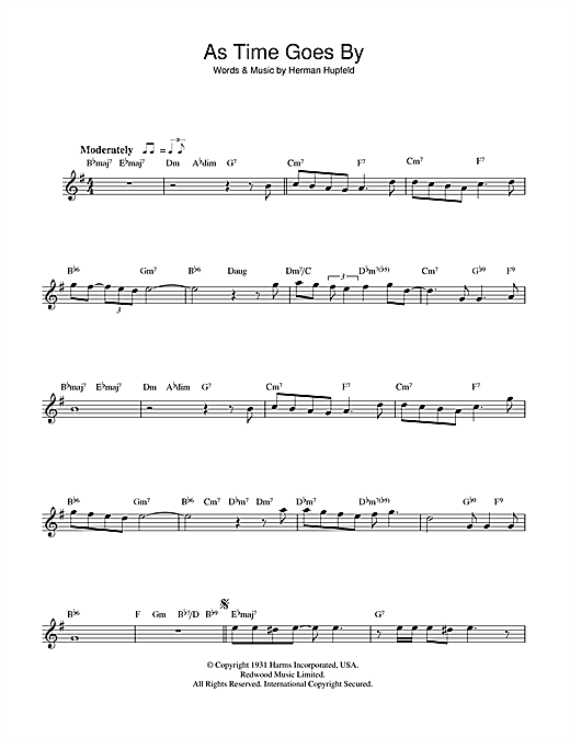 As time goes by lead sheet pdf