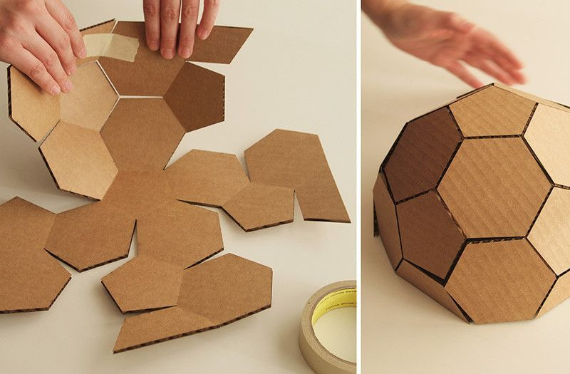cardboard geodesic dome instructions