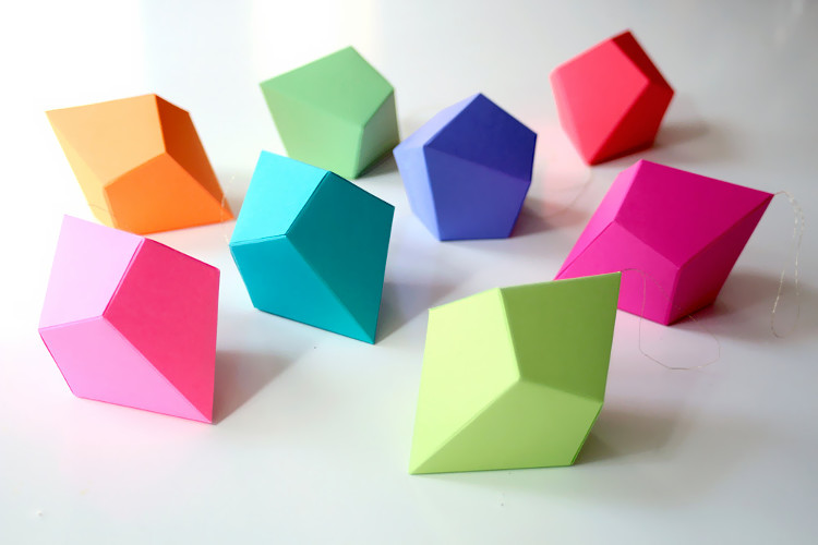 origami 3d geometric shapes instructions