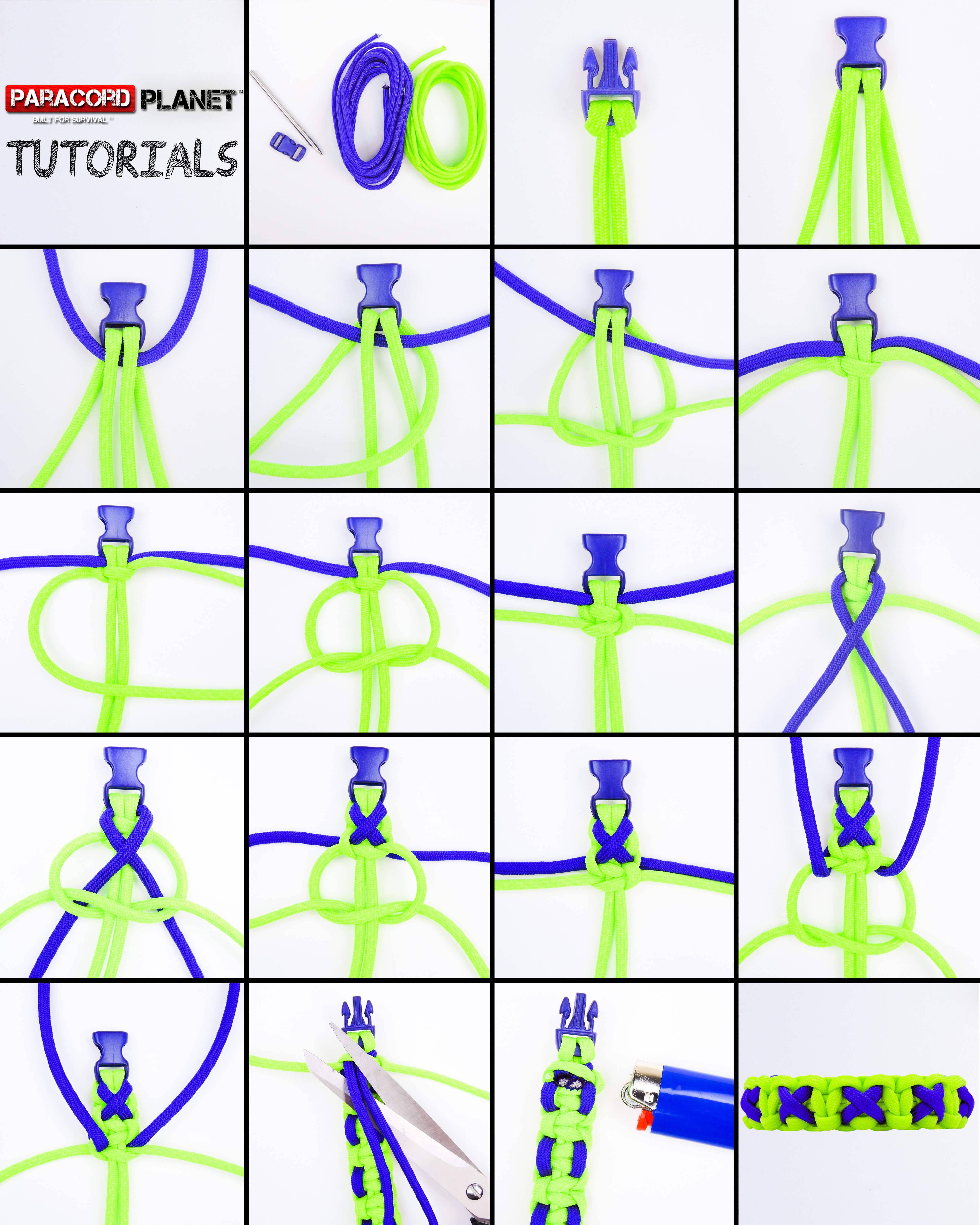 paracord bracelet instructions for beginners
