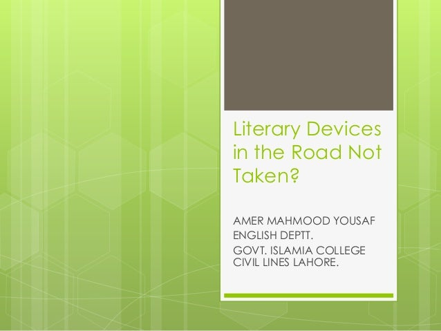 The road not taken annotated pdf
