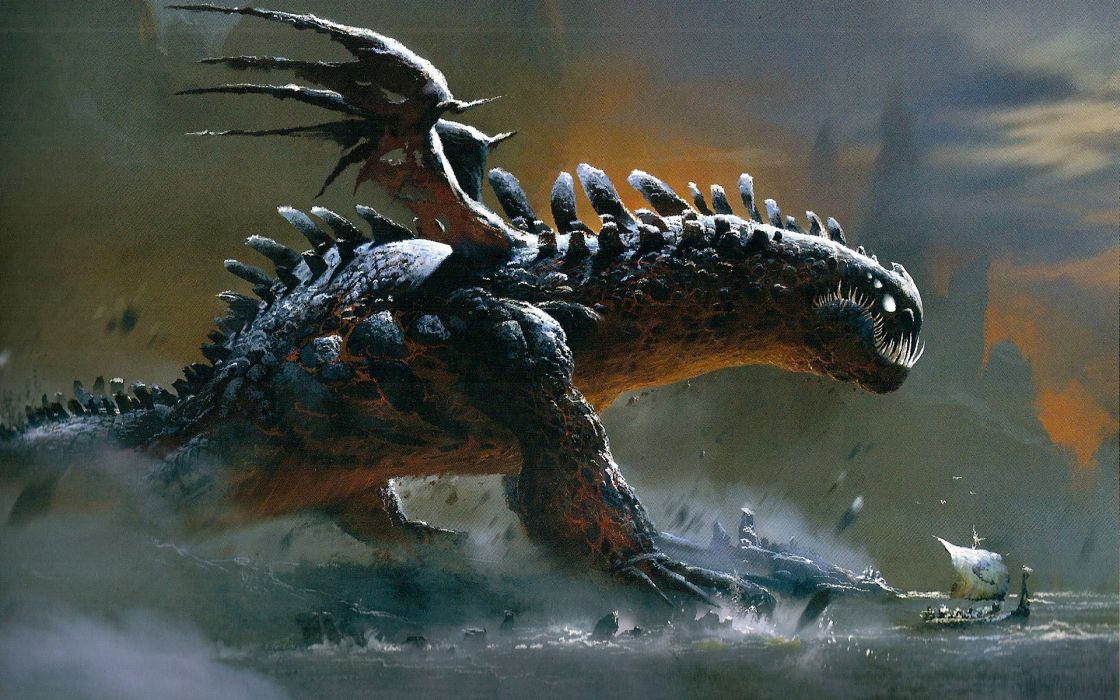 Red death dragon how to train your dragon