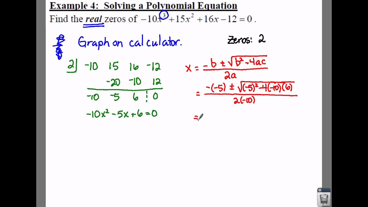Example of a polynomial expression