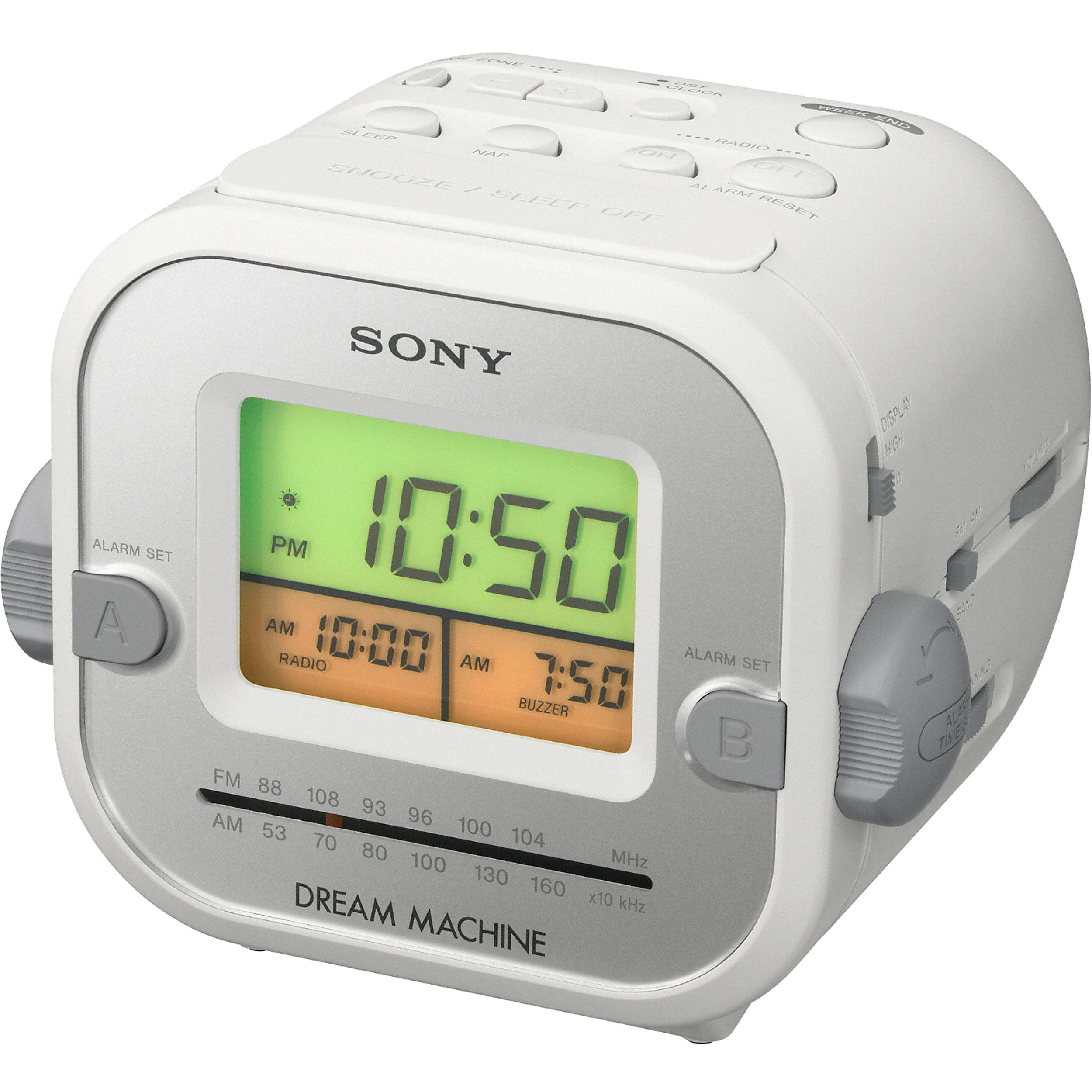 sony dream machine auto time set alarm clock manual